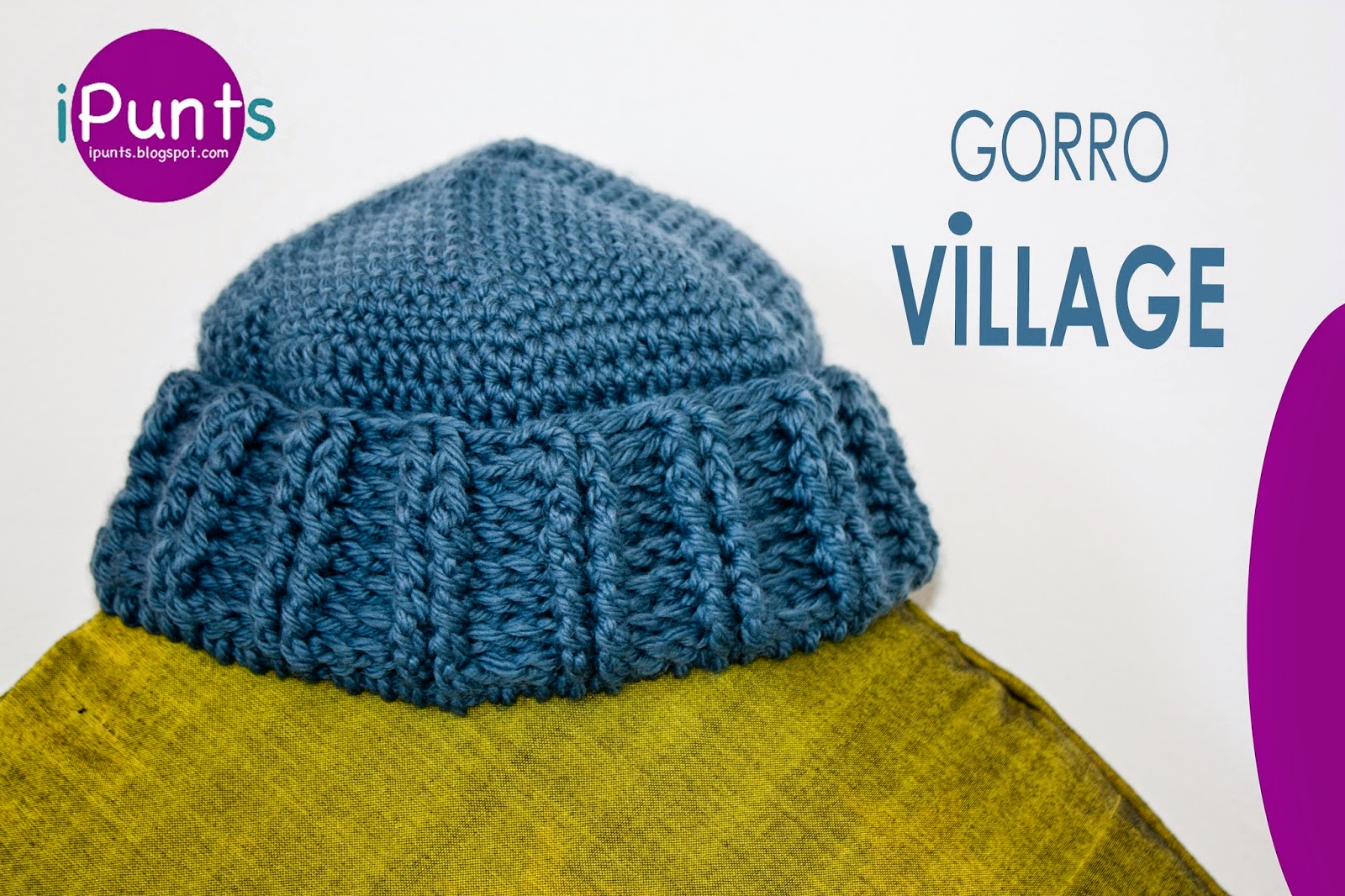 iPunts: Gorro Village a ganchillo (Crochet)