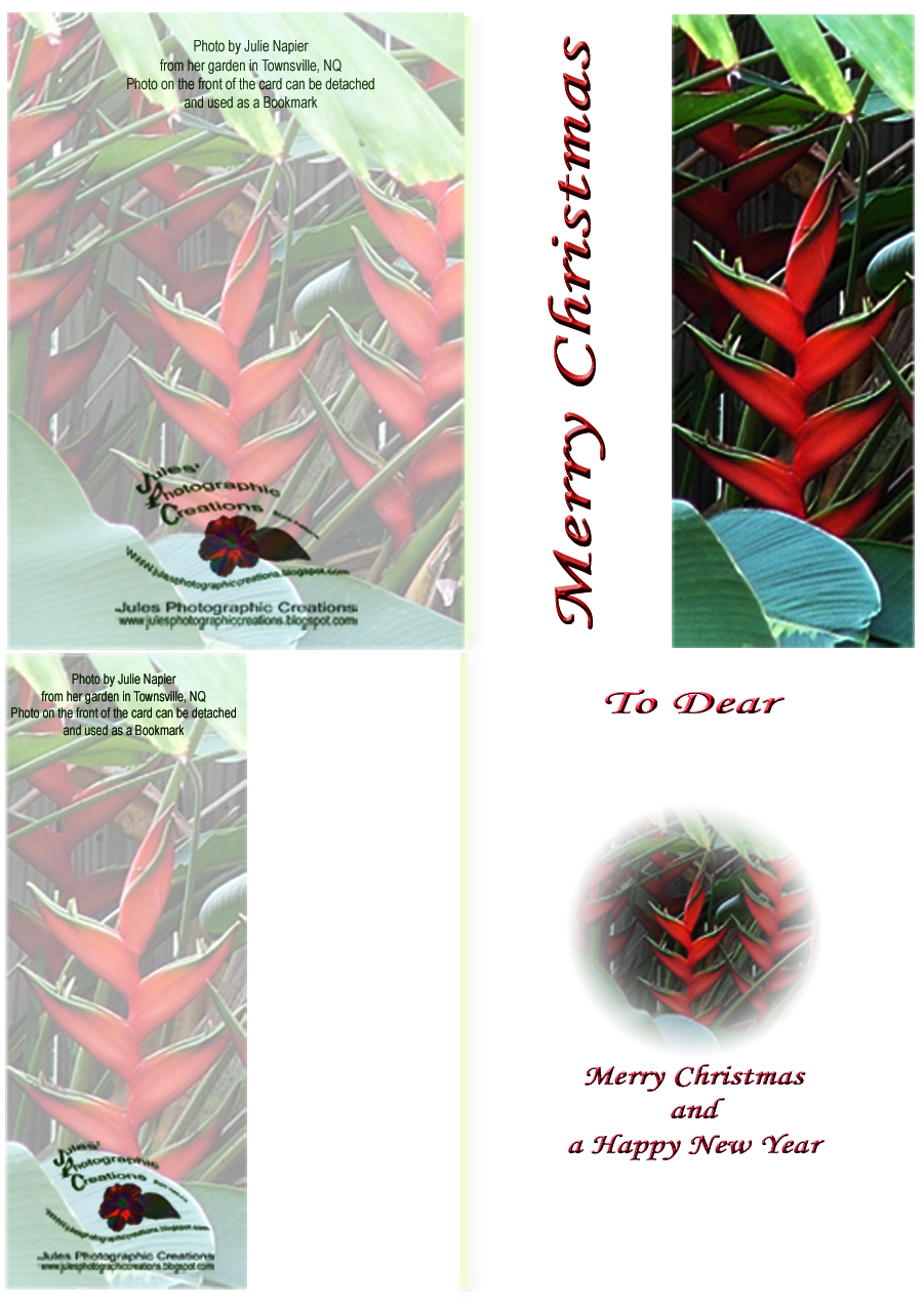 Example of Greeting Card with Detachable Bookmark