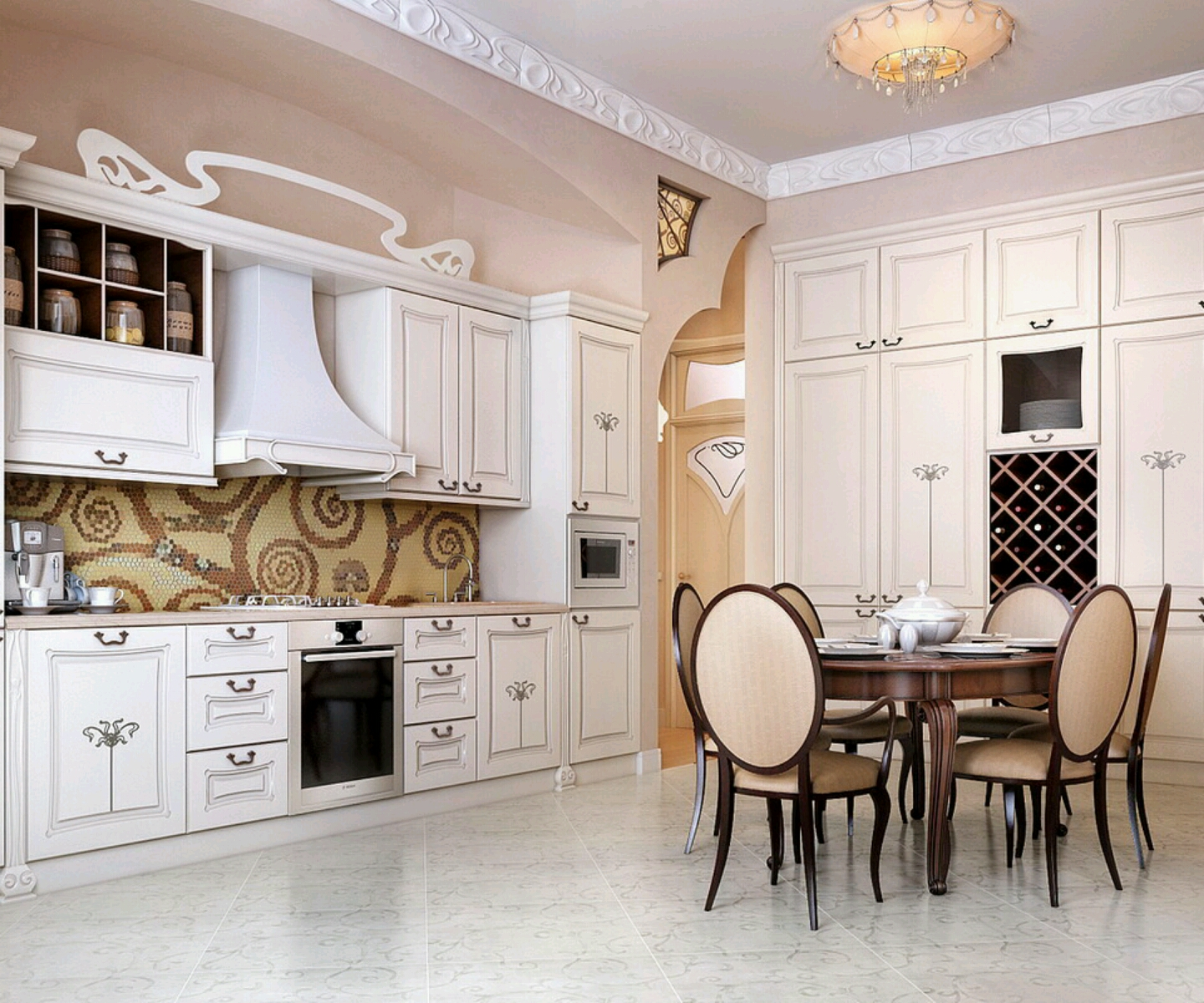 Modern kitchen furniture designs ideas vintage romantic for Kitchen furniture design ideas