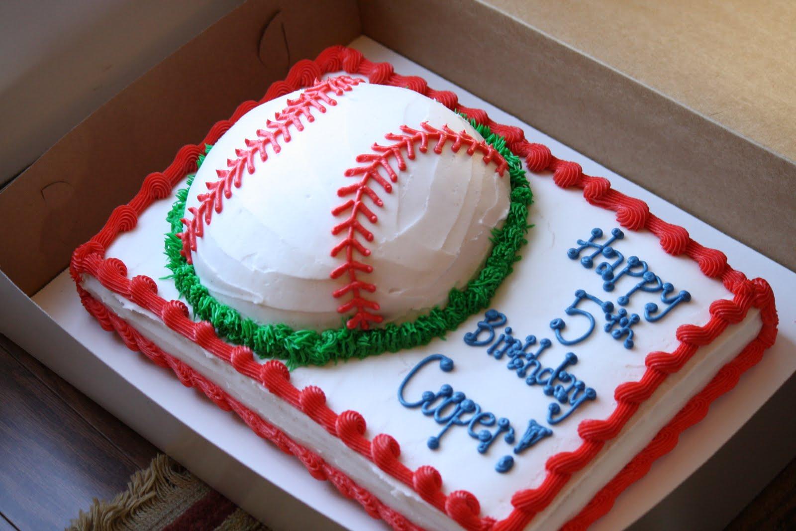 Baseball Themed Th Birthday Cake
