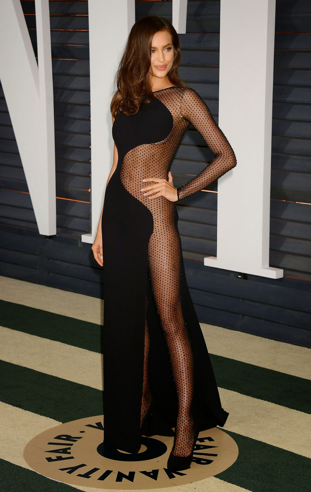 Irina Shayk at 2015 Vanity Fair Oscar Party in Hollywood