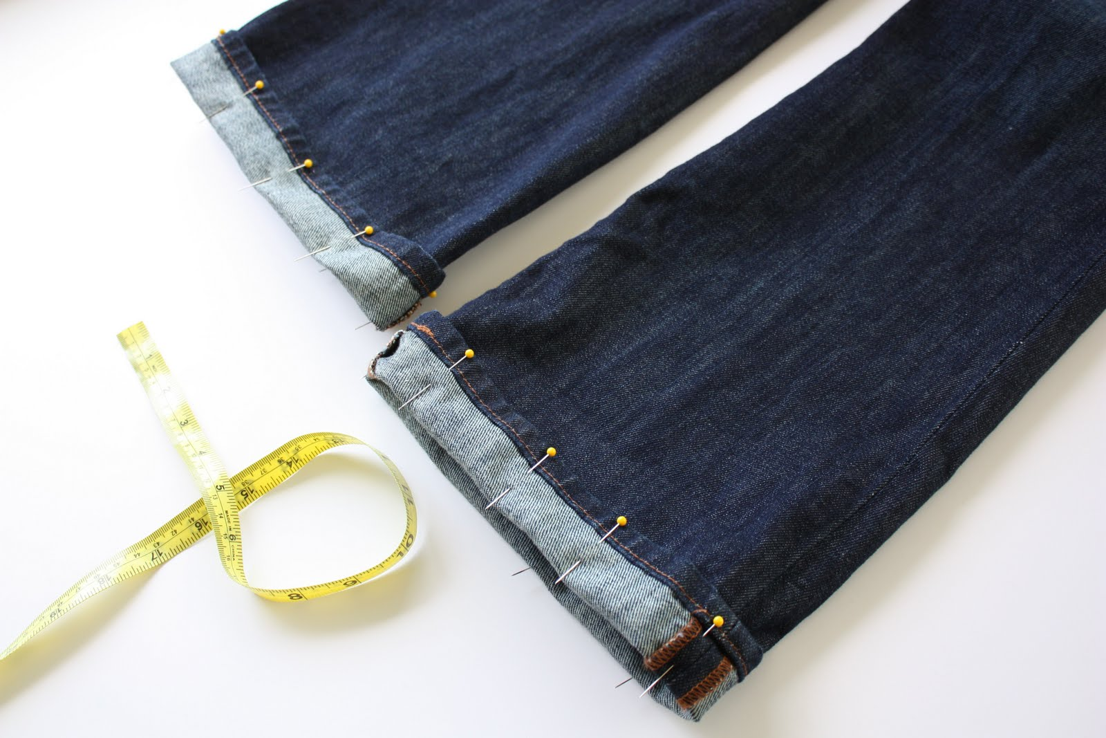 How to hem jeans how to hem jeans and keep the original hem tutorial ccuart Image collections
