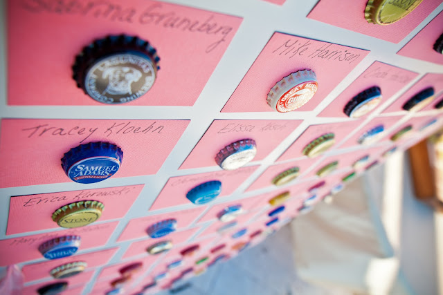 magnetic beer cap escort cards