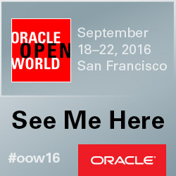 Speaking OOW 2016