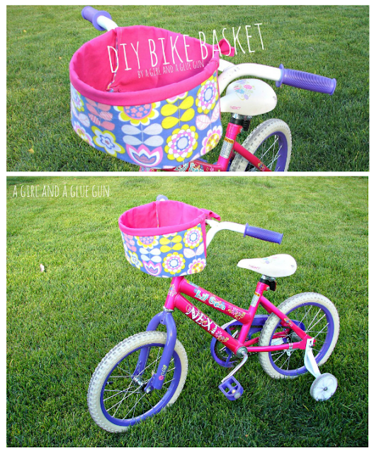 DIY bike basket tutorial