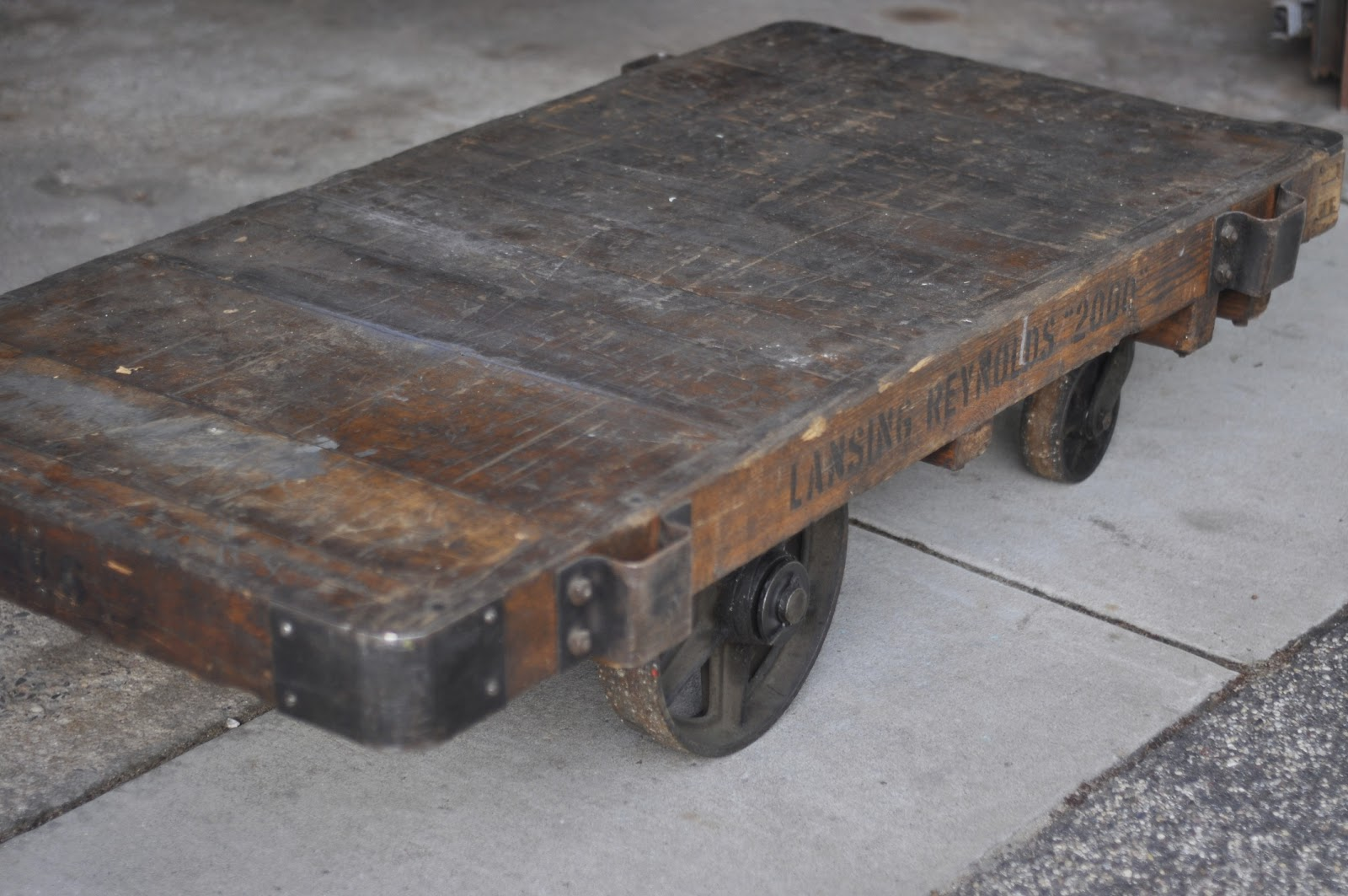Carver junk company railroad cart reveal our new coffee for New coffee table