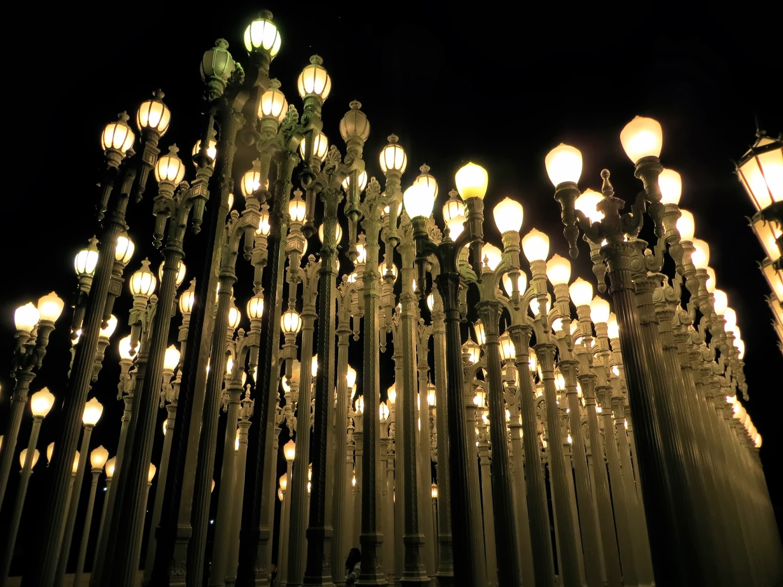 Mirjam kristian travel journal a day in california six flags worlds most famous lamp posts that are located next to la country museum of art a sculpture called urban light by chris burden aloadofball Gallery