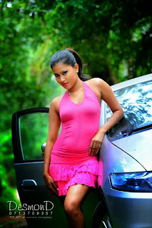 Model Chathu Paba Dilhara pink hot