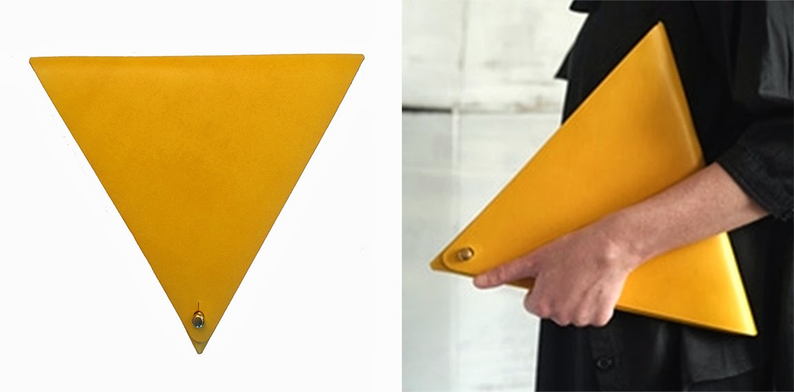 Bronica Triangle Clutch Bag in Yellow | M. Hulot