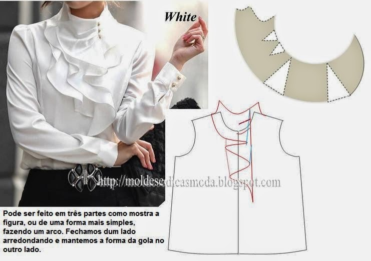 Блузка с воланом своими руками выкройка