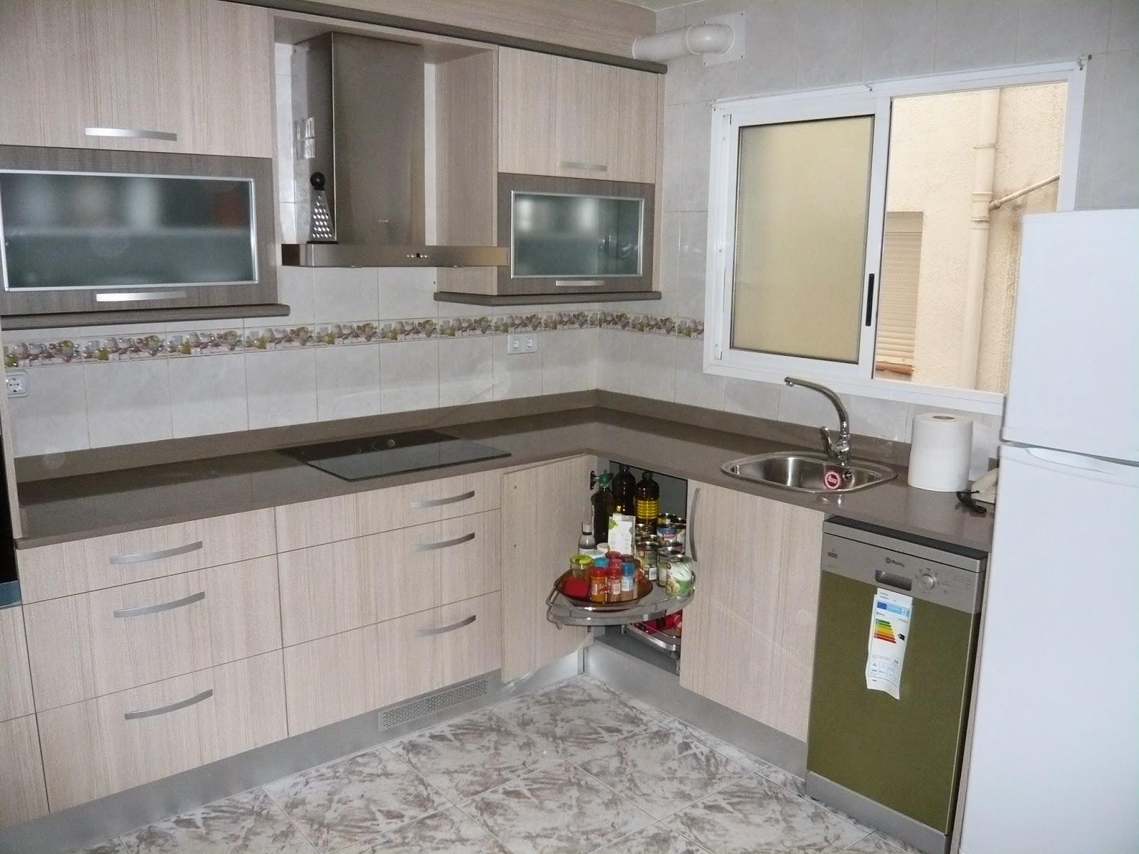 Reuscuina muebles de cocina de formica beige - Muebles de cocina de formica ...