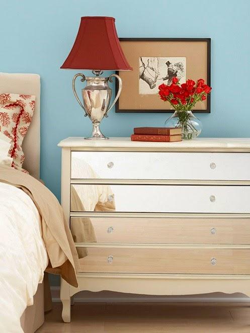 mirrored bedroom dresser modern