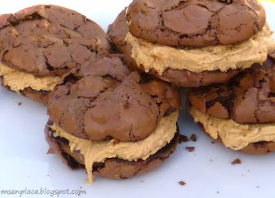 Donna Hay's Brownie Cookies w/ Peanut Butter Frosting