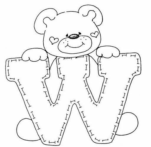 Letras infantiles para dibujar y colorear colorearrr - Letras decorativas para ninos ...