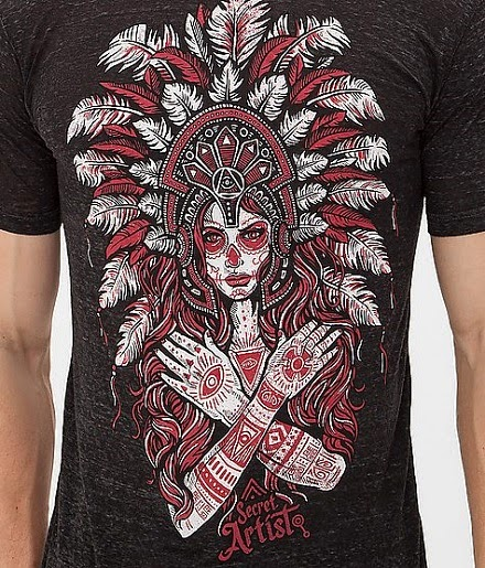 http://www.buckle.com/secret-artist-collective-myan-headdress-tshirt/prd-81198SA207/sku-4109880400