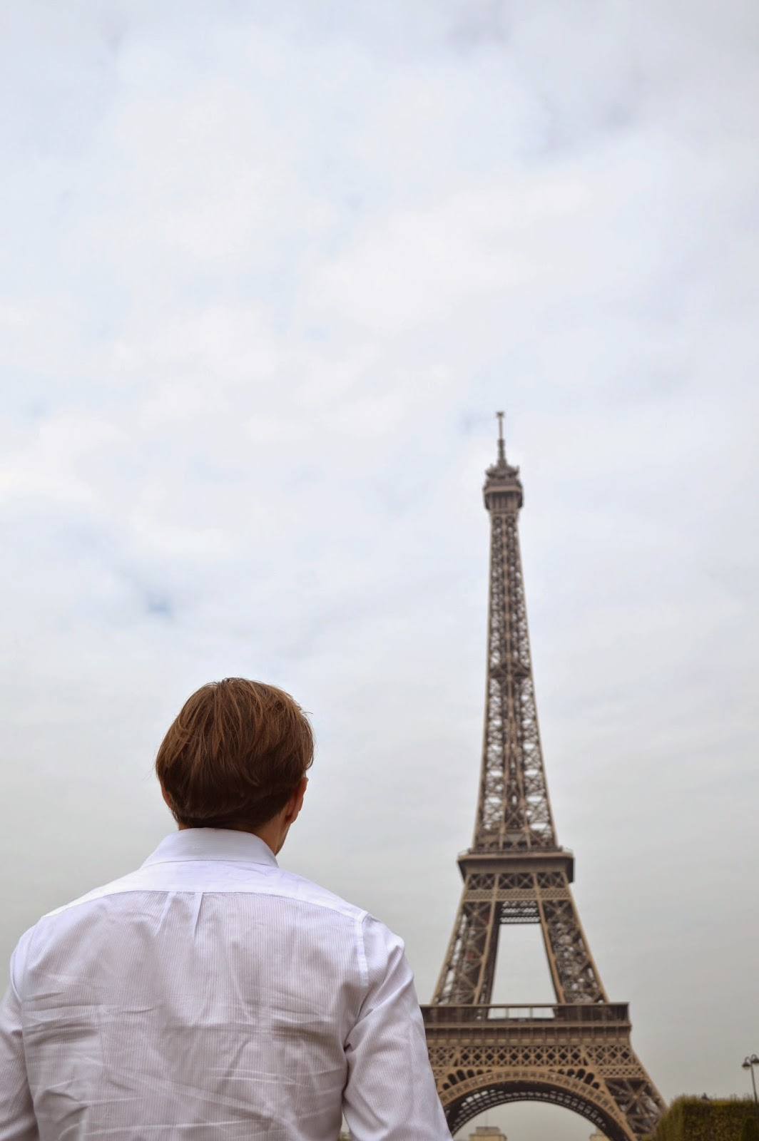 David in front of the Eiffel tower