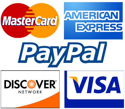 We Accept Credit Cards & Paypaly