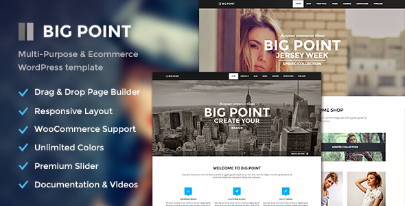 Big Point – Multi-Purpose & Ecommerce Theme