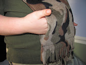 A Fleece Scarf with Hand Warmers