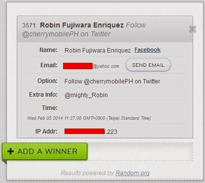 TeknoGadyet Power Bank Giveaway Winner