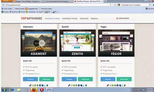 Mencari Theme WordPress Yang Sesuai