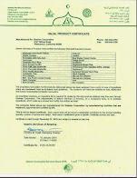 ::Halal Shaklee Certificate::
