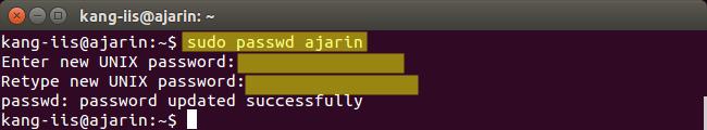 Perintah Linux - Fungsi passwd