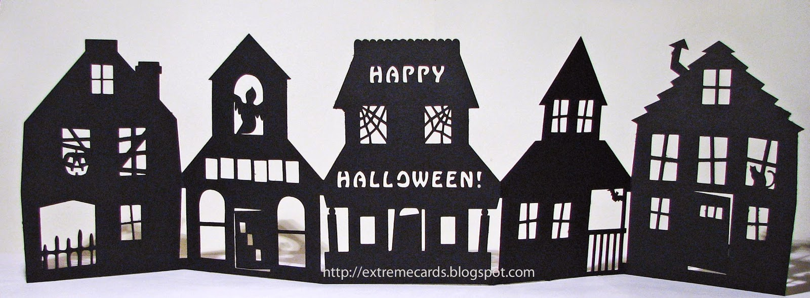 How To Make An Accordion Of Haunted Houses