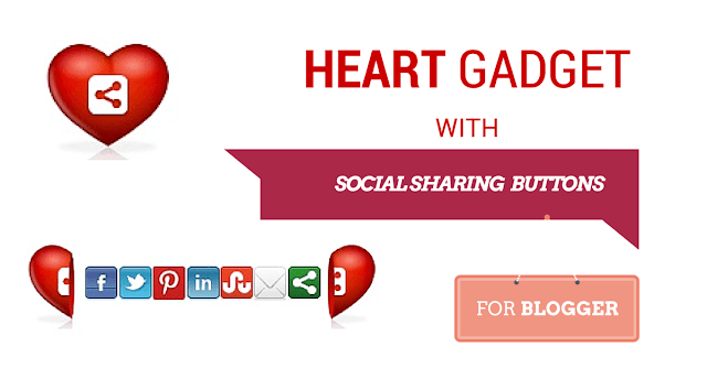 Open heart bookmarking gadget, heart widget blogger