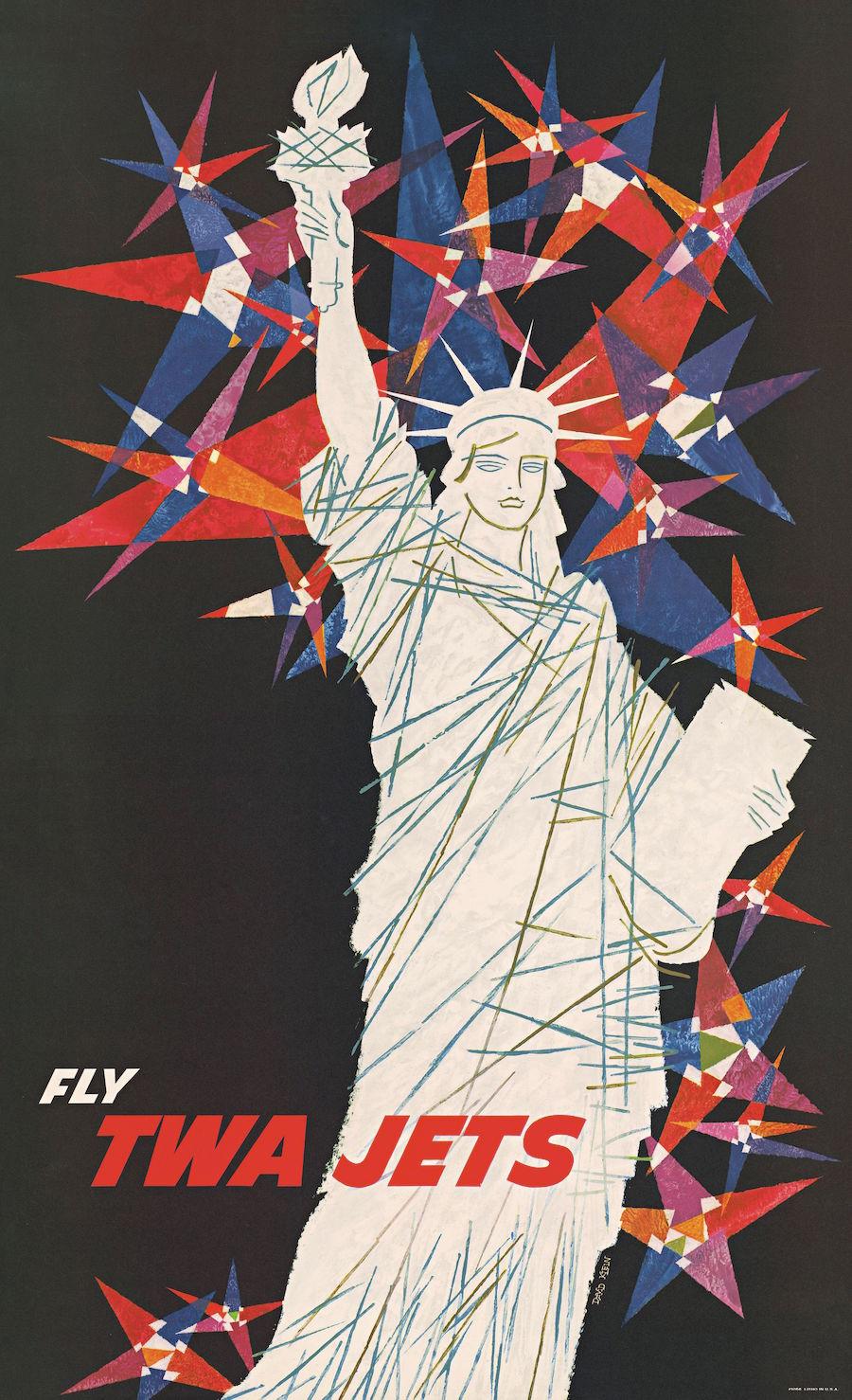 TWA airline advertising branding
