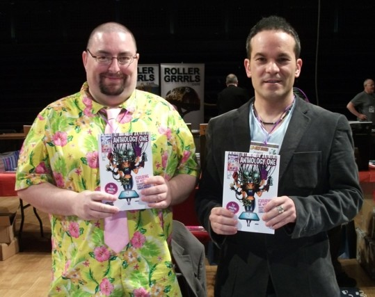Dr Chris Murray's distinctive shirts are now well known around comics events ...