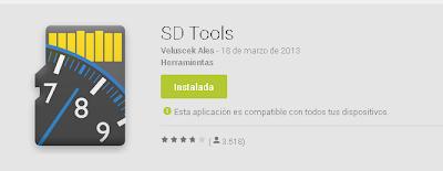 Yo le llamaria SD Tool, ya que solo nos comprueba la velocidad de transferencia de nuestra microSD