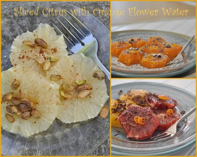 Citrus Slices with Orange Flower Water Collage