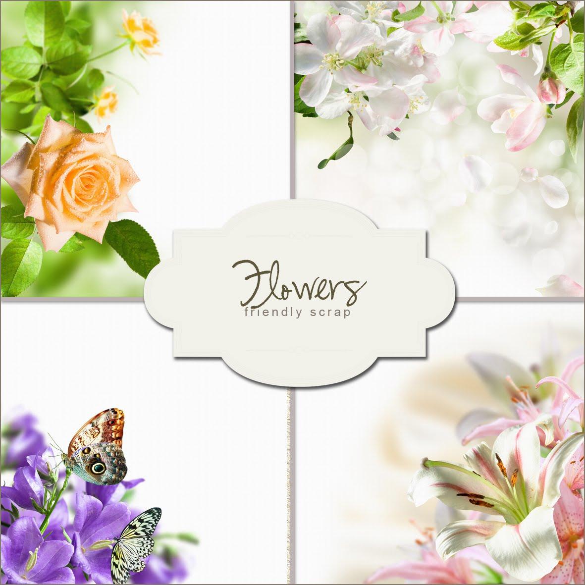 Fondos para tarjetas de 15 años con flores - Imagui
