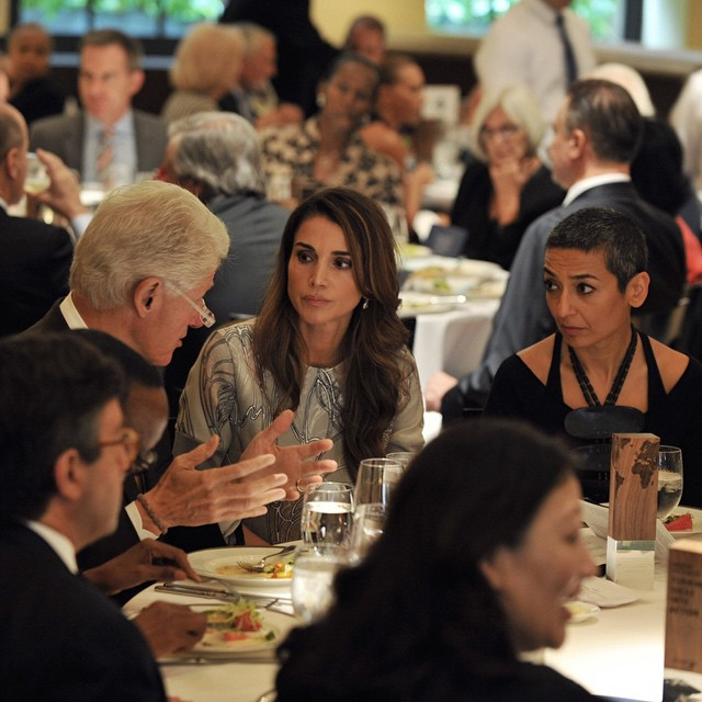 Le Roi Abdullah et la Reine Rania à New York