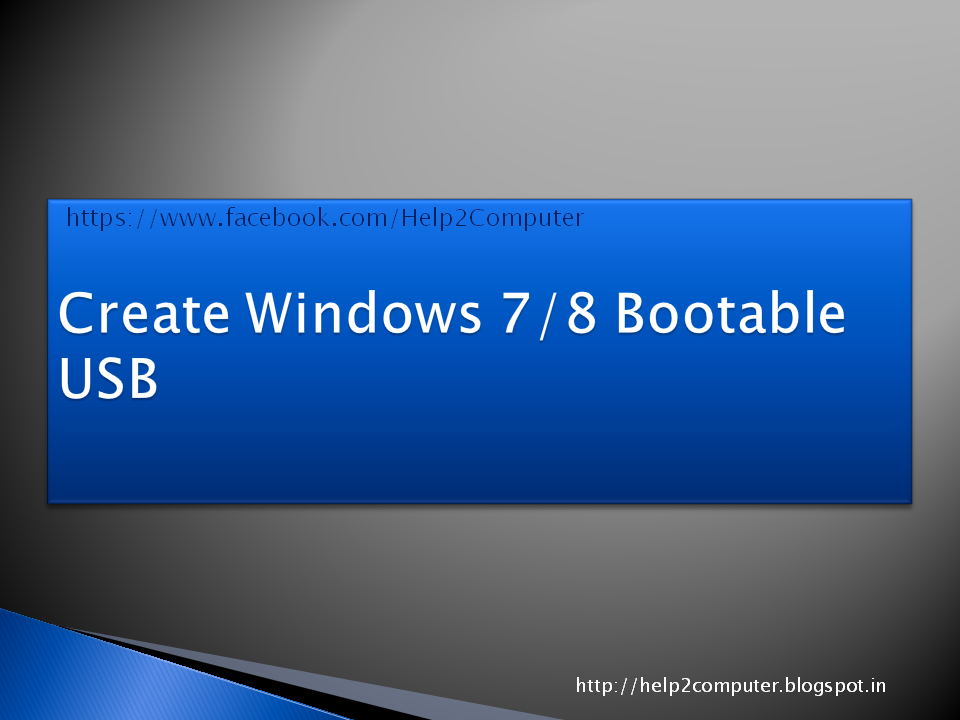 How to Create Windows 8 Bootable USB
