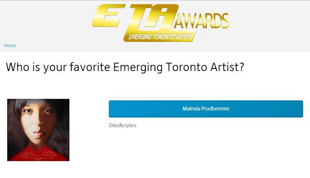 vote, art, artist, artwork, beauty, portrait, beauty art, toronto, toronto art, Emerging Toronto Artist, ETA, ETA Awards, Malinda Prudhomme