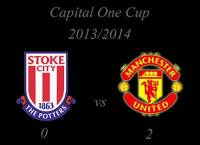 Stoke City vs Manchester United Capital One Cup Result 2013