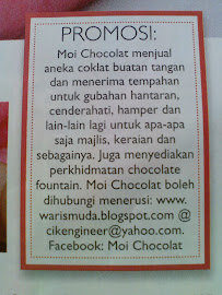 Note from Moi Chocolat