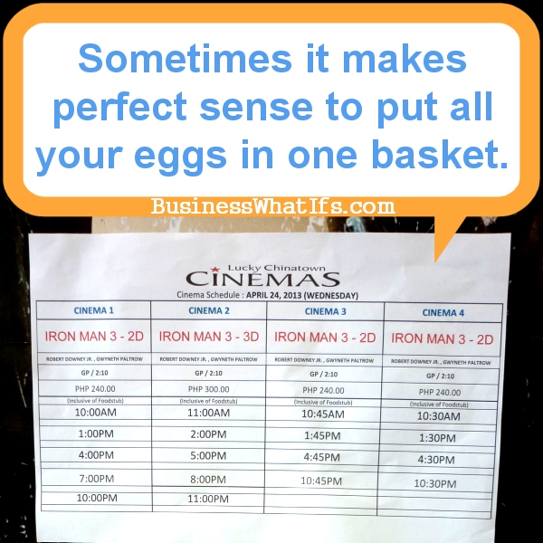 Sometimes it makes perfect sense to put all your eggs in one basket.