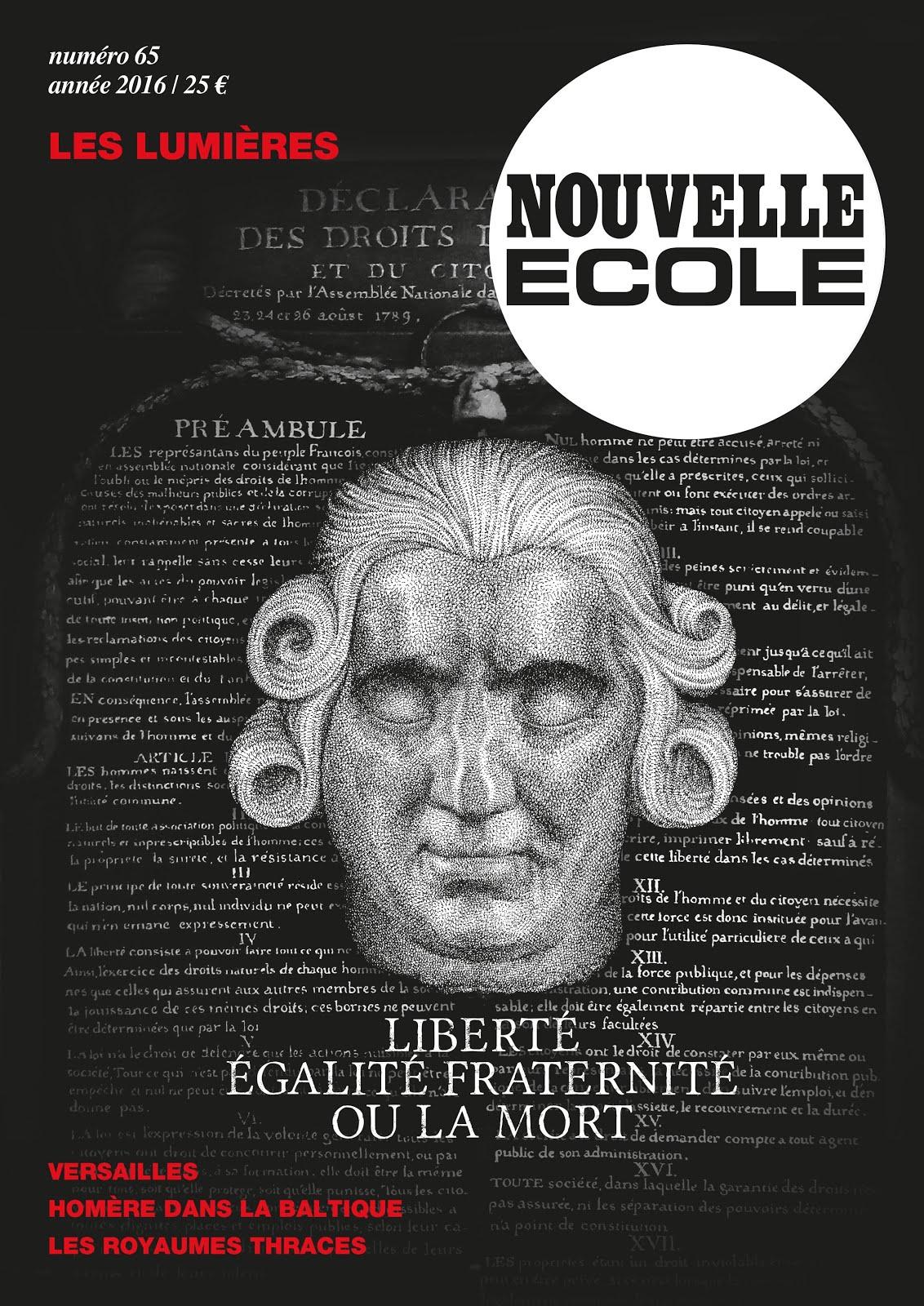 """Nouvelle Ecole 65 """"Les Lumières"""" - Numéro de janvier 2016"""