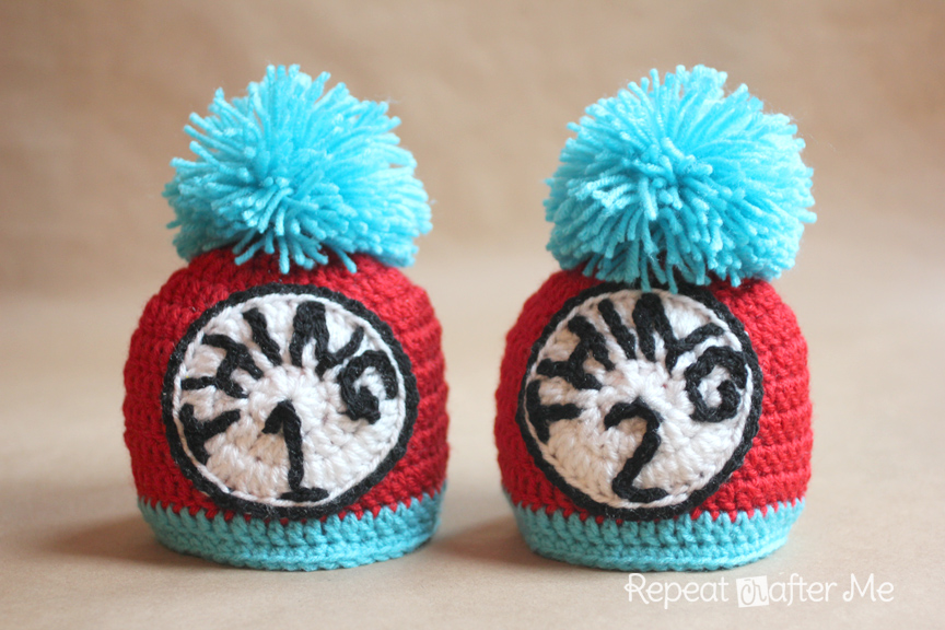 Thing 1 And Thing 2 Crochet Hats Repeat Crafter Me