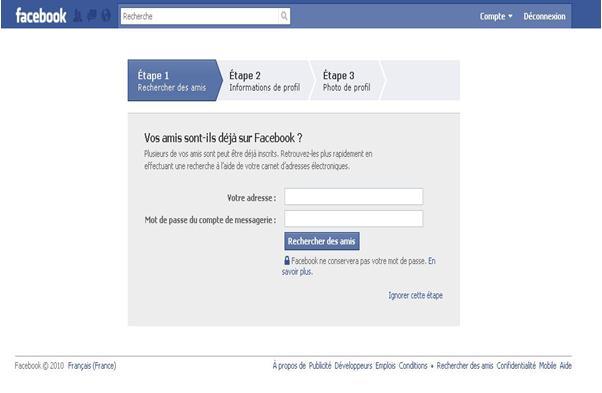 Astuces facebook connexion facebook for Inscription d et co