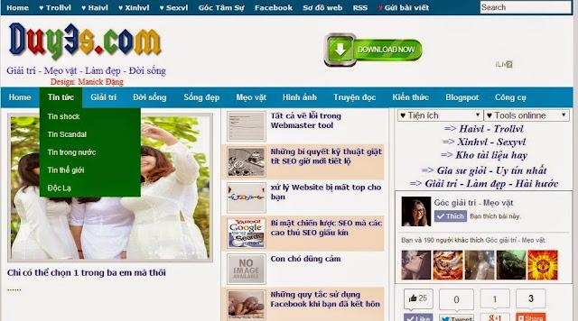 Template Blogspot tin tức đẹp chuẩn SEO 2015