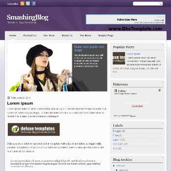 SmashingBlog blogger template. magazine style template blogger. featured content blogger template.