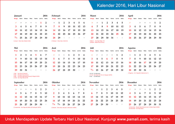 Prima Warna: Download Kalender Indonesia 2016 Lengkap