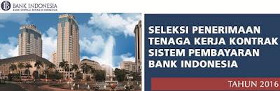 Lowongan Kerja Tenaga Kerja Kontrak Bank Indonesia