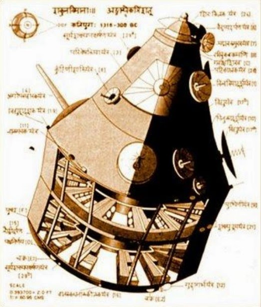 Ancient Indian Vimana Drawing Picture