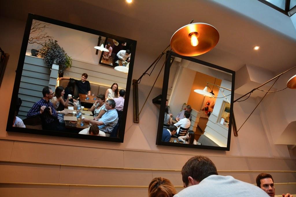 Restaurant Lima, London mirrors