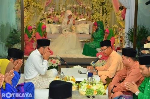 Gambar pernikahan Fizo Omar dan Mawar